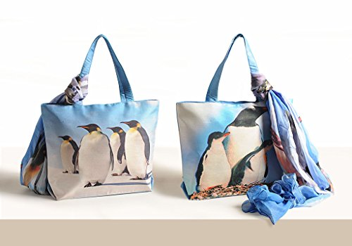 De Bolsas Usos Digitales 11 Moda Tiendas Pulgadas Y Azul Moda Bufanda Mujeres Beige Múltiples De Yuga X 16 De Bolsos Con De Impresos qZwq0Axdz