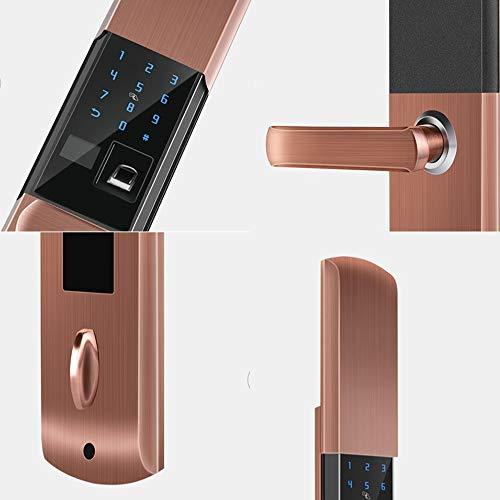 BLWX - Smart Lock-Stainless Steel+zinc Alloy-Fingerprint Lock Home Security Door Lock Password Lock Electronic Lock Door Lock Card Magnetic Card Lock-Size: 357X80X68mm Door Lock (Color : B) by BLWX-home renovation. Door lock (Image #2)