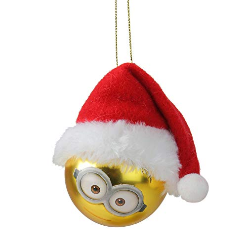 - Kurt Adler Despicable Me Minion Dave with Santa Hat Gold Glass Christmas Ball Ornament 2.5