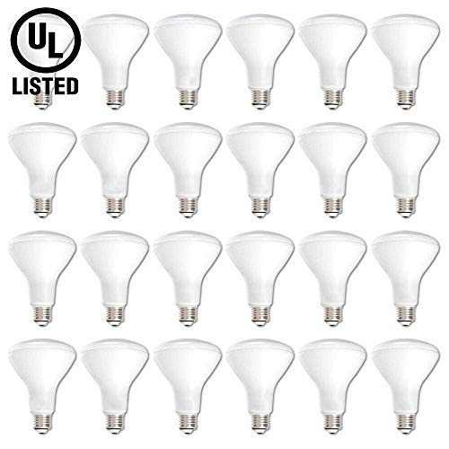 LED BR30 Dimmable Flood Bulb, 65W Replacement - 10 Watt - 650 Lumens - 2700K Soft White - Indoor/Outdoor Rated - UL & Energy Star, 24-Pack