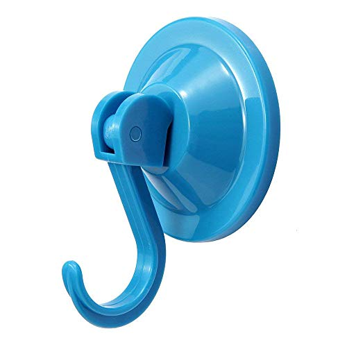 4-Pack Power Lock Suction Cup Hooks,by NL Home? (Blue) ()