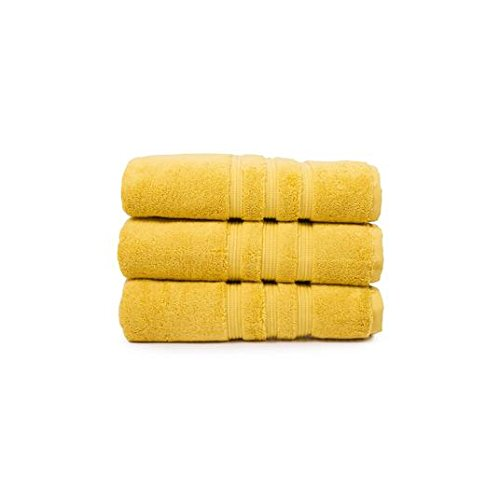 Toalla Deyongs opulencia Pima mano del algodón, azafrán amarillo ...