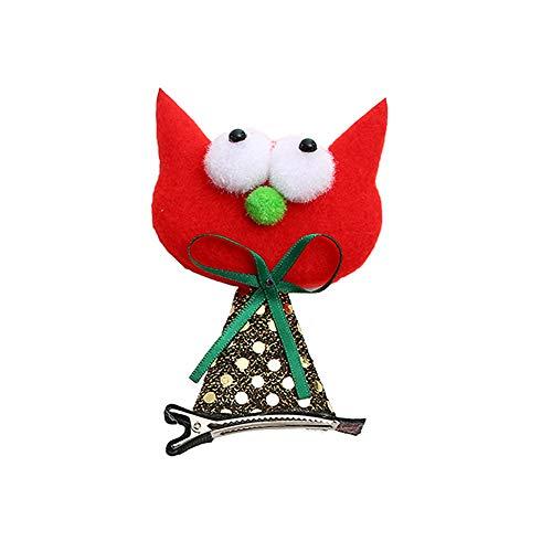 Koolsants 1PC Halloween Baby Children Hair Clip Hairpins Bat Red Cat Pumpkin Ghost Funny Dress Up Toy, 1.97inch