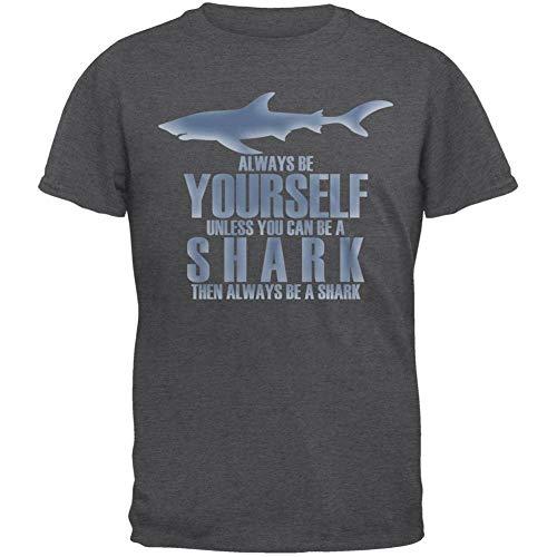 Animal World Always Be Yourself Shark Dark Heather Adult T-Shirt - Large ()