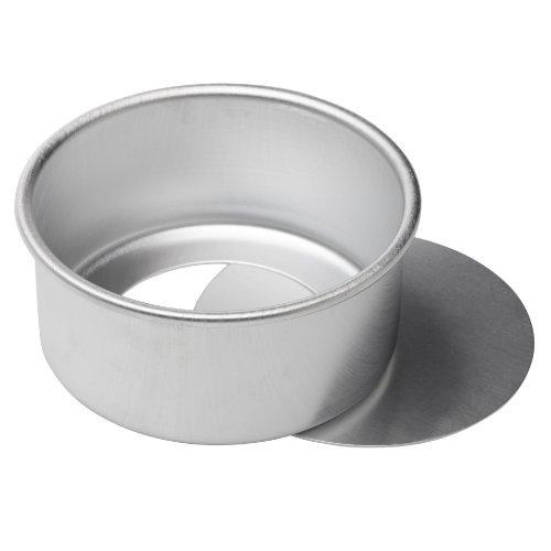 Ateco Aluminum Cake Pan with Removable Bottom, 6 by 3-Inch, Round by Ateco (Image #1)