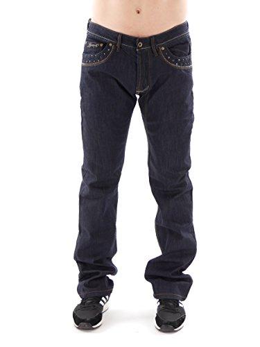 Kaporal5 Jeans Hose Glevor dunkelblau Denim Five-Pocket Ziernieten Glevor - HH09JN