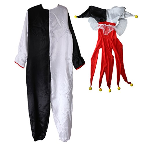 MonkeyJack Harlequin Jester Humor Clown Costume Halloween Fancy Dress