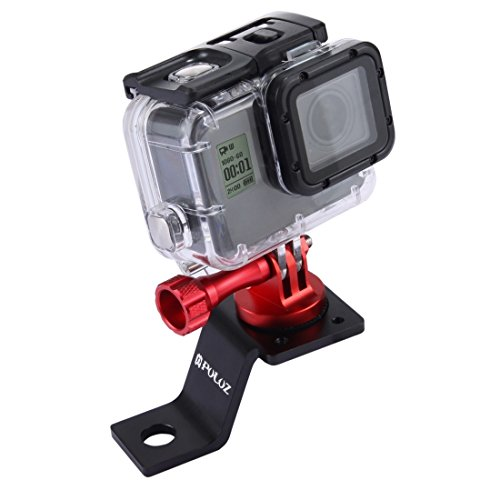 GoPro Soporte, PULUZ Motorcycle Mirror/Pinch bolt Mount Fixed Metal Bike Holder Mount for GoPro Hero 6 5 4 Session Black...