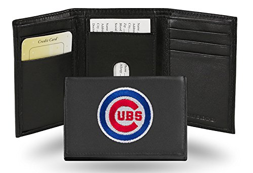 Chicago Cubs Embroidered Logo Genuine Leather Tri-Fold Wallet
