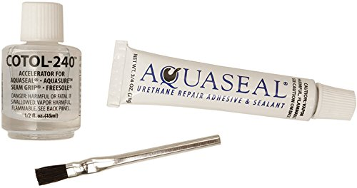 Aquaseal Flexible Durable Repair Adhesive and Cure Accelerator - Mask Michigan