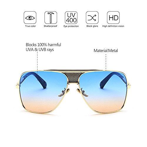 la Gafas sol Protección la ZEVONDA Aire De Estilo Metálico UV400 08 moda Vendimia de Marco de Hombres Libre de del al fzOZxnwf