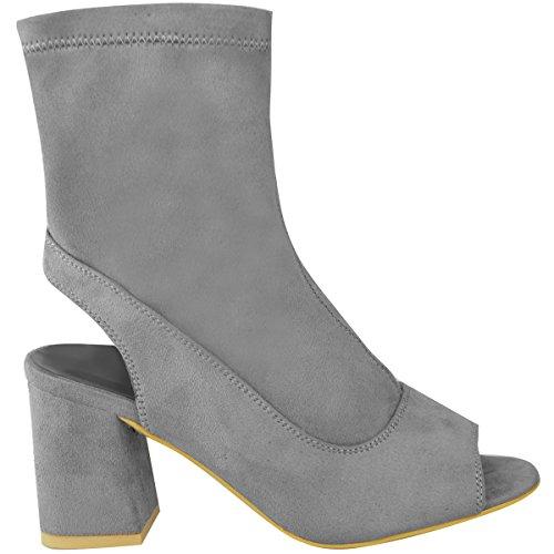 Talon pour Neuf Mid Ouvert Bloc Dos Ouvert Fashion Bas Pointure Bout Bottine Thirsty Femmes Chaussures UqRSxaCw