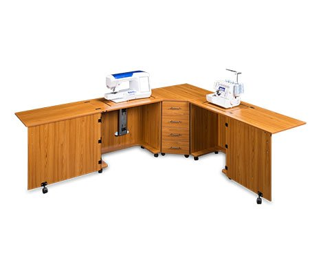 (Sylvia Design Model 1810 Sewing Center, for large machines (Teak))