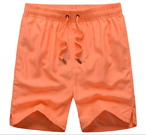 Haodasi Unisex Quick Dry Sports Jogging Beach Shorts Strand Shorts Swim Shorts Swimwear Bademode Boardshorts Color Orange Size M