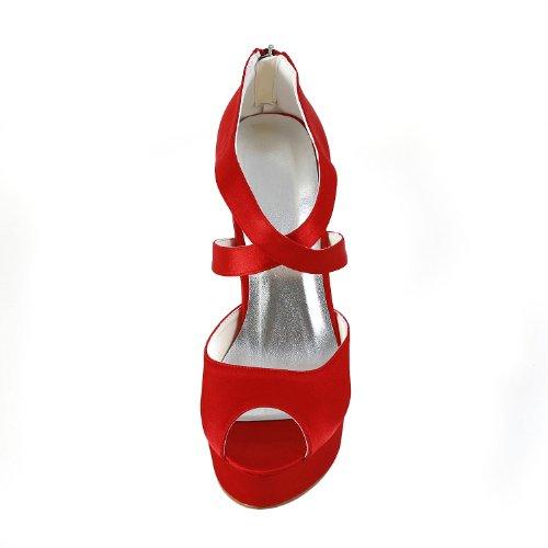 Wedding Mariée De 201121 Escarpins Femme Chaussures Mariage Jia Rouge Pour 1nPd6B1
