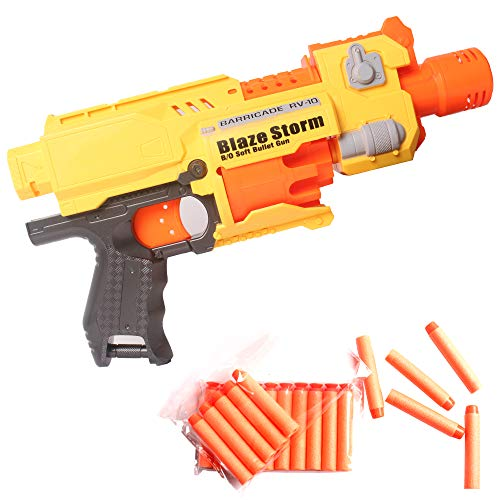 (Coolgun Soft Foam Semi-Automatic Dart Blaster Shooter Toy Gun with Rotating Drum Holds 10 Darts for Kids Teens and Adults)