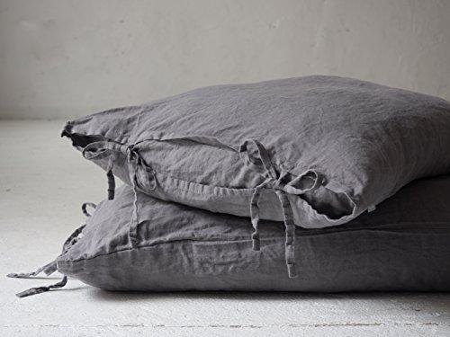 Ties, 100% Linen Pillow Sham, Natural