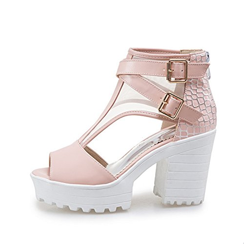 Platforms Pink 1TO9 Style Marking Non Baguette Womens Sandals MJS03269 Urethane Dress xTAqH