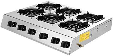 ホーム/商業ガスレンジコンロガスストーブイオンセンシング保護、パルス電子点火ストーブを清掃するLPGステンレス鋼のトップ6密閉バーナー