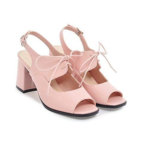 Con Primavera y PU Sandalias Segundo Toe Boda Casual de Chunky mujer Peep Heel Fiesta SHINIK Para Verano cordones Zapatos Noche txqvXaEwX