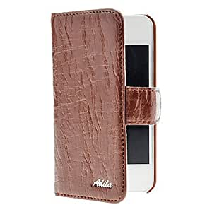 Willow Stripe Soft PU Leather Full Body Case with Card Slot for iPhone 4/4S (Optional Colors) , khaki