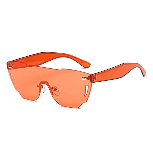 Rosa Huecos De Sol Sol Gafas Pc rojo Corte Gafas De Mujer De Gafas JUNHONGZHANG Poligonal De Mar De naranja qHawzzY