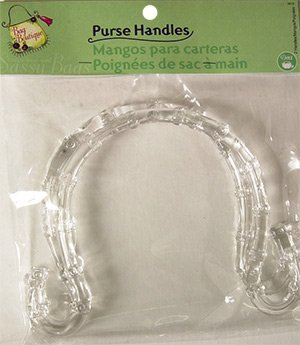 Dritz Bag Boutique Purse Handle - Clear Swirl 7""