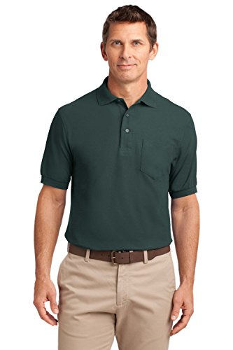 Port Authority Silk Touch Polo Shirt With Pocket   Polycotton Fabric   Large