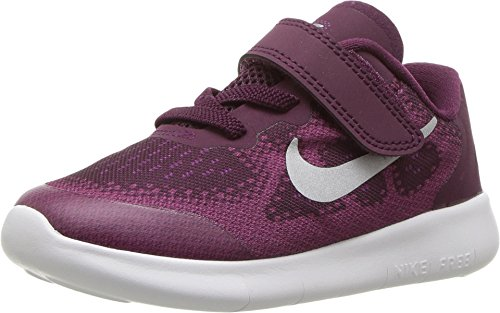 Nike NIKE FREE RN 2017 (TDV) Toddler fashion-sneakers 904261-601_7C - BORDEAUX/METALLIC SILVER-TEA BERRY