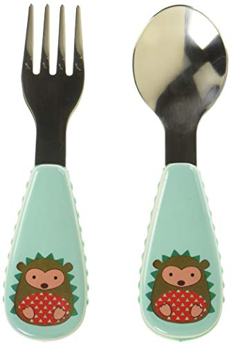 Skip Hop Toddler Utensils, Fork and Spoon Set, Hedgehog]()