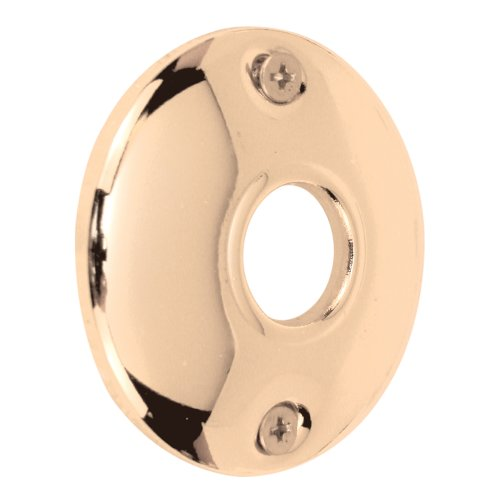 - Defender Security E 2541 Steel Door Knob Rosettes, 2-1/2 Inch, Stamped Steel, Polished Brass Plated Finish, Pack of 2