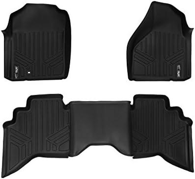 SMARTLINER Floor Mats 2 Row Liner Set Black for 2002-2008 Dodge Ram 1500 Quad Cab 2003-2009 Ram 2500//3500 Quad Cab