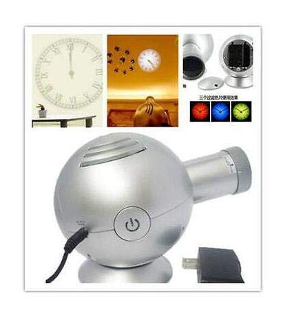 zzzopne technology 4th Gen Analog Projection Wall Clock Bell w/LED Based Projector Cold Light by zzzopne technology