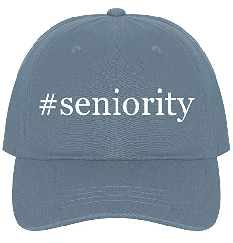 The Town Butler #Seniority - A Nice Comfortable Adjustable Hashtag Dad Hat Cap, Light Blue