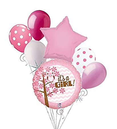 Amazon 7 Pc Its A Baby Girl Owl Balloon Bouquet Party Shower
