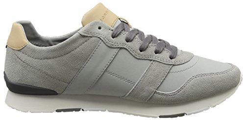 Tommy Grey Diamond Sneaker 001 Grau Runner Material Hilfiger Mix City Herren Casual rT7rU