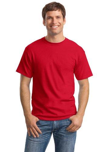 - Hanes Mens 5.2 oz Heavyweight Short Sleeve T-Shirt Deep Red