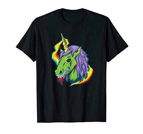 Funny Zombie Unicorn T-shirt, Horror, Evil, by Zany Brainy