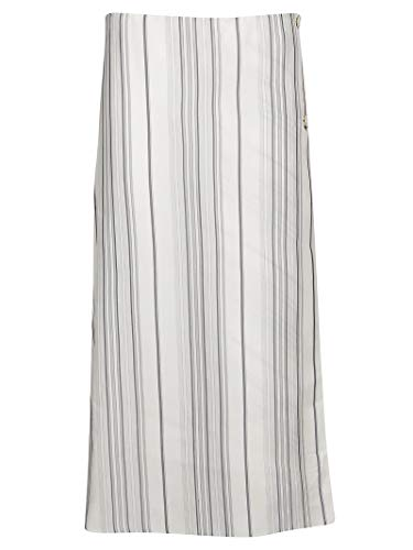 - Jil Sander Women's Jspo350510wo380717111 White Viscose Skirt