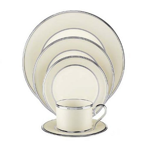 Lenox Ivory Frost Platinum-Banded 5-Piece Place Setting, Service for 1