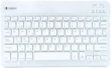 SUBBLIM Smart Backlit BT Keyboard Silver: Amazon.es: Informática