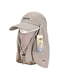 ICOLOR UPF 50+ Quick Drying Sun Protection Hat Travel Camping Hiking Fishing Hat