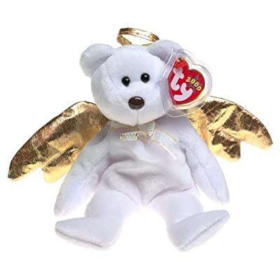 Ty Halo II (2) the Retired Bear Beanie Baby with Tag Protector: Toys & Games