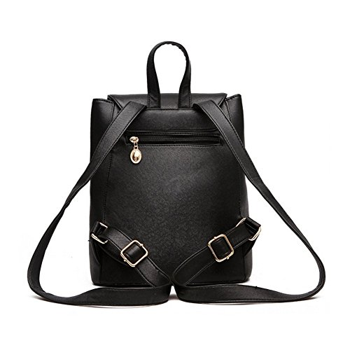Girls Fashion Backpack Leather Women Bag Ladies PU Rucksack Travel bag Red Shoulder Snxxd