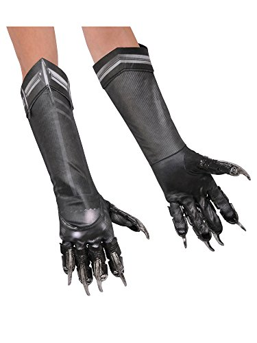 Rubie's Costume Captain America: Civil War Kid's Deluxe Black Panther Gloves ()