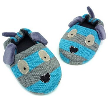 Little Kids Cartoon Slippers Baby Girls Boys Winter Warm Plush Cotton Indoor Shoes Non-Slip Ankle Boots