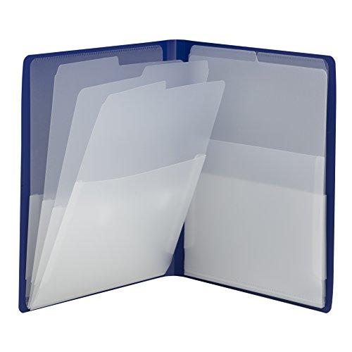 Smead Organized Up Multi Pocket Organizer, Eight Pockets, Letter Size, Dark Blue