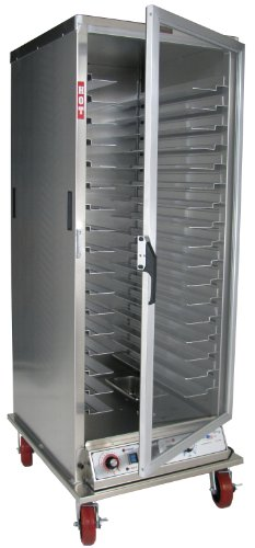 "Lockwood CA72-PF-CD-R Aluminum Full Height Non-Insulated Mobile Proofing and Holding Cabinet with Universal Tray Supports and Clear Door, 35 Pan Capacity, 28-1/2"" Width x 74-9/16"" Height x 35"" Depth"