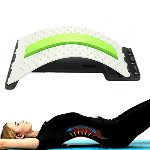 Enshey Correction Pad Back Massager - Stretcher Fitness Waist Spine Pain Relief Lumbar Massaging Support by Enshey