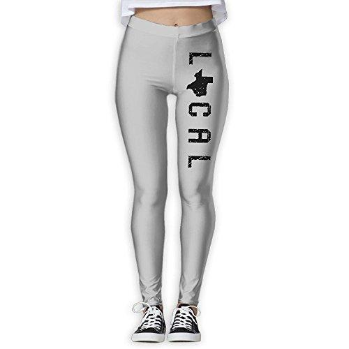 Local Texas State Yoga Pants Performance Activewear Workout Leggings Sports Pants Size(S-XL) (Texas Workout Pants)